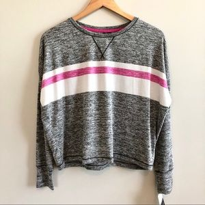 NWT Kenzie Striped Pullover Soft Crew Sweater